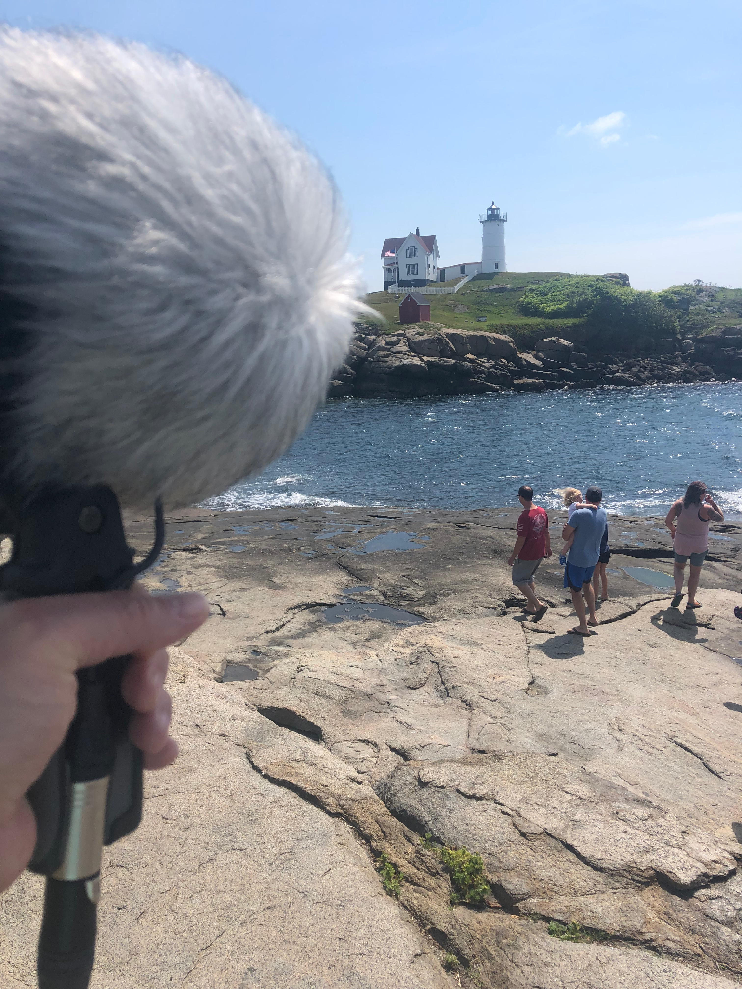Lighthouses are noisy places - lots of people